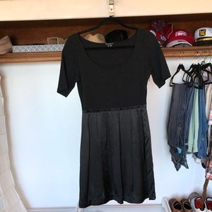 Black, silk and spandex Theory dress